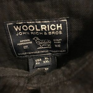 Woolrich XL Black Plaid button down shirt
